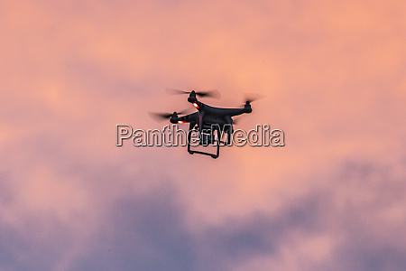 usa colorado drone in flight at