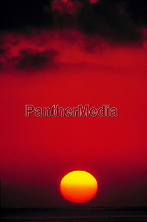 usa california santa monica the sun
