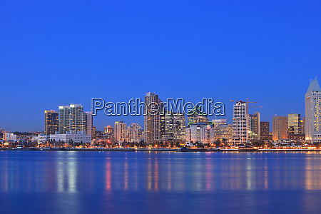 view of san diego skyline from