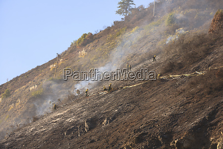 fighting wildfires near big sur fall