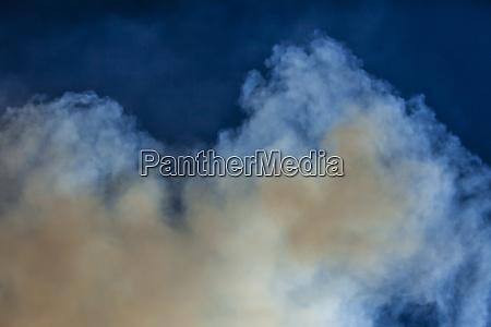 usa california lee vining smoke plume
