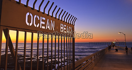 ocean beach pier at twilight san