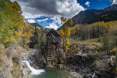 fall aspens at historic crystal mill