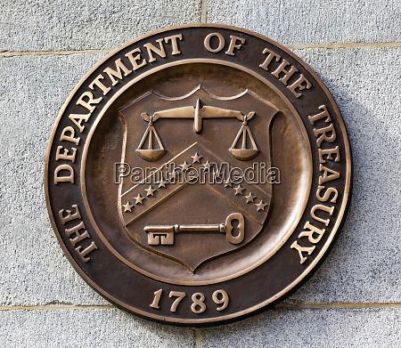 bronze seal symbol of us treasury