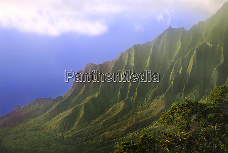 usa hawaii kauai landscape of the