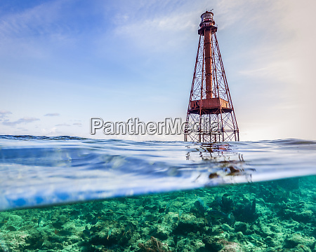 water level view of the lighthouse