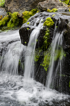 small stream cascading over rocks in