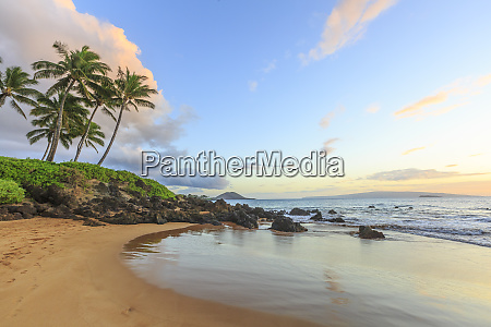 sunset at beach near wailea maui