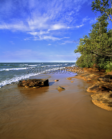 usa michigan pictured rocks nl the