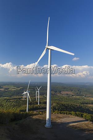 wind turbines on mars hill as