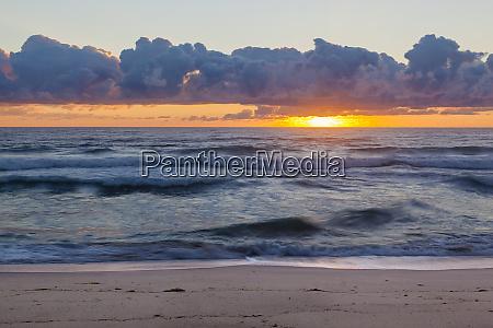 dawn over the atlantic ocean at