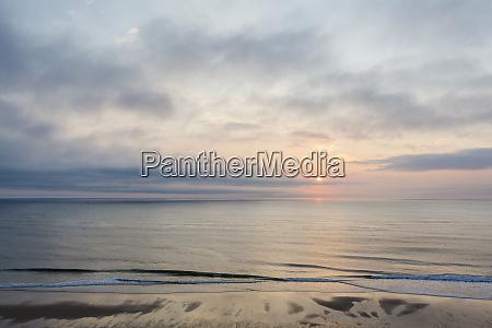 dawn over the atlantic ocean as