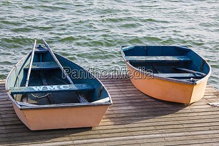 skiffs on the dock in wellfleet