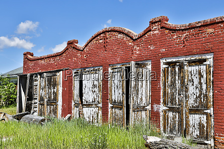 usa montana twin bridges abandoned building