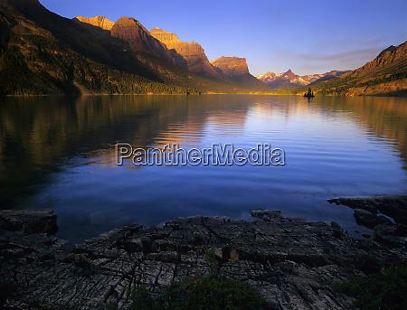 early morning at st mary lake