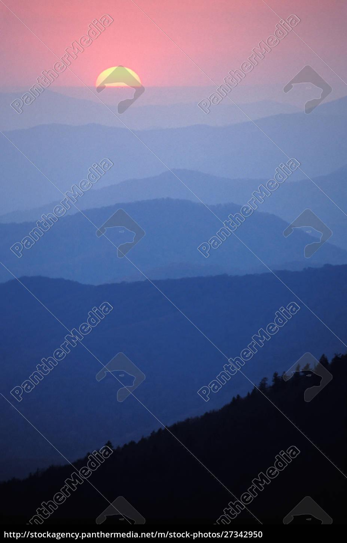 sunrise, , southern, appalachian, mountains, , great, smoky - 27342950