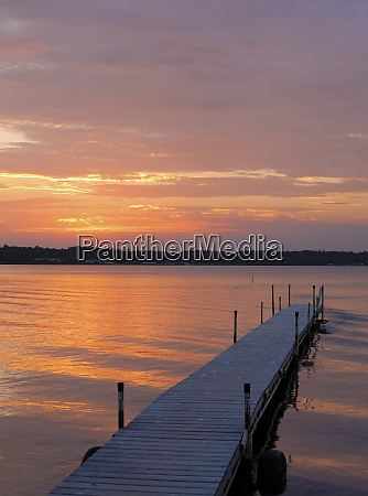 swimming, dock, , cass, lake, , minnesota, at - 27342488