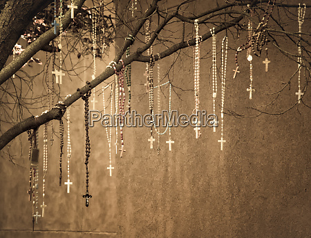 usa new mexico rosaries hang from
