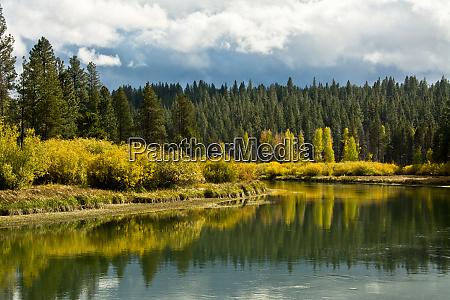 early autumn deschutes national forest oregon