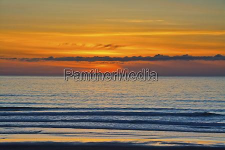 sunset ocean heceta beach oregon coast