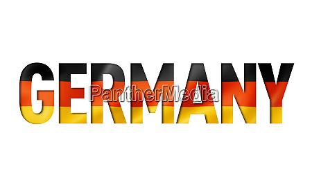german flag text font