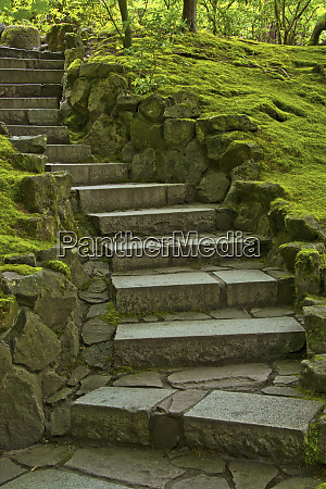 steps natural garden portland japanese garden
