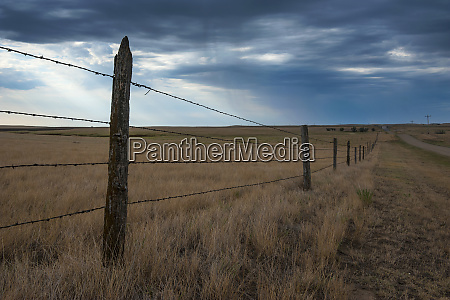 fence in the savanah near the