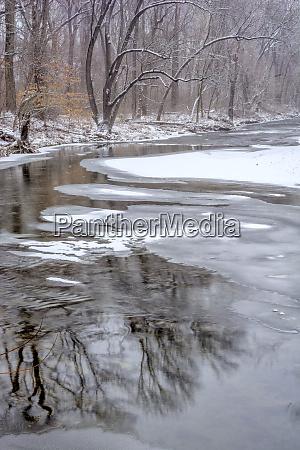 usa pennsylvania philadelphia winter on pennypack