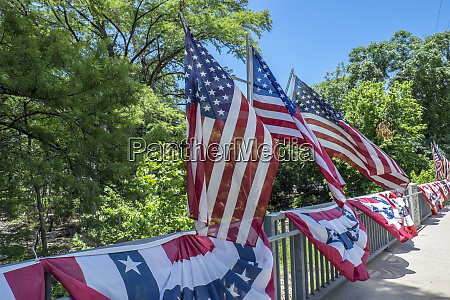 cypress creek bridge decorated for independence
