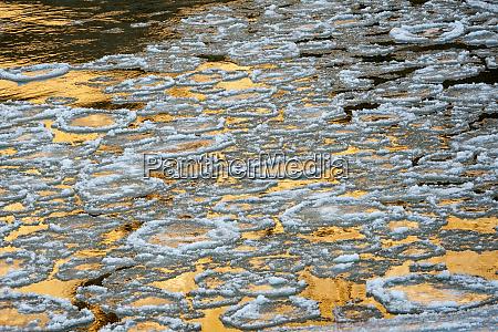 usa utah ice floes and canyon