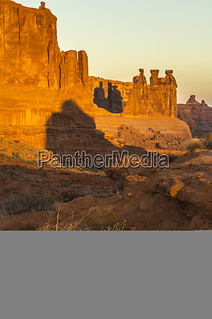 usa utah arches national park three