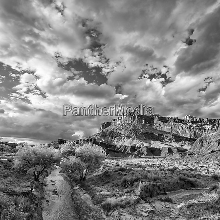 usa utah black and white image