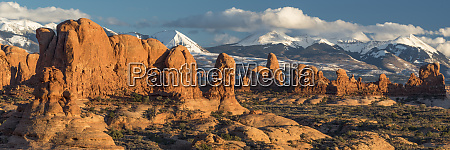 usa utah red rock formations of