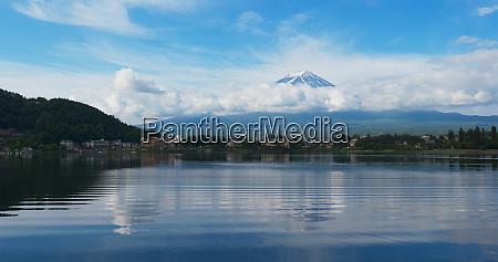 mountain fuji in kawaguchiko lake of