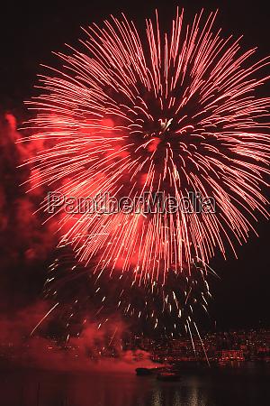 4th of july fireworks celebration at
