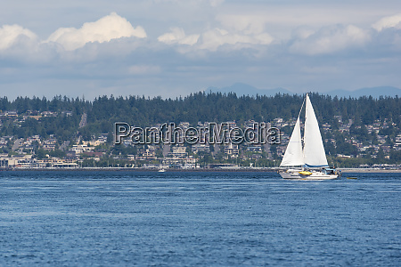 usa washington state sailboat passes edmonds