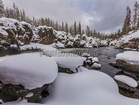 the firehole river in winter in
