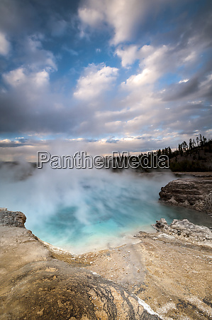 usa wyoming yellowstone national park clouds