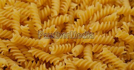 stack of fusilli close up