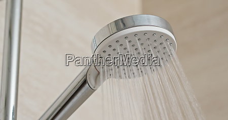 water flow in the shower head
