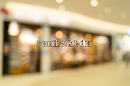 blur view of shopping plaza