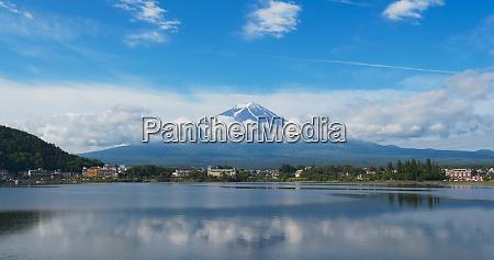 japanese mountain fuji in kawaguciko