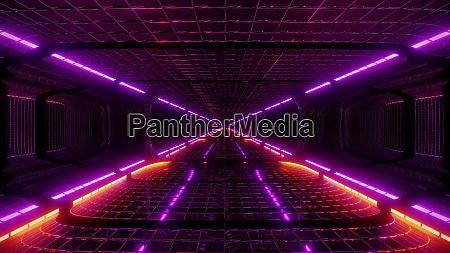 futuristic fantasy scifi wireframe tunnel building