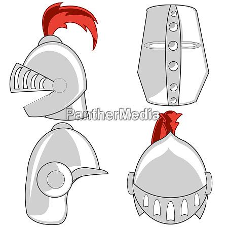 varied defensive steel helmet knights of