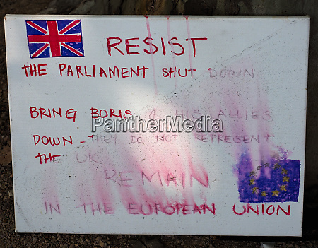 resist parliament shut down used by