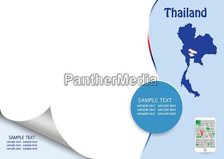 travel thailand template concept vector