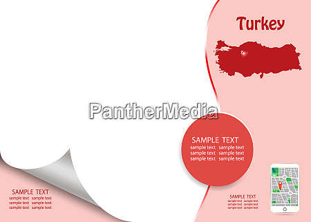 travel turkey template concept vector