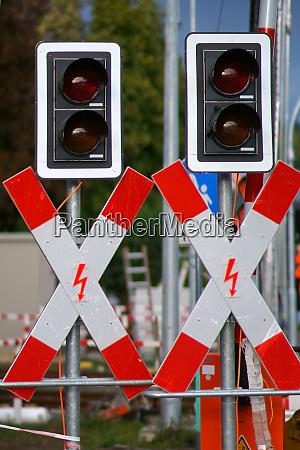 st andrews crosses at a rail