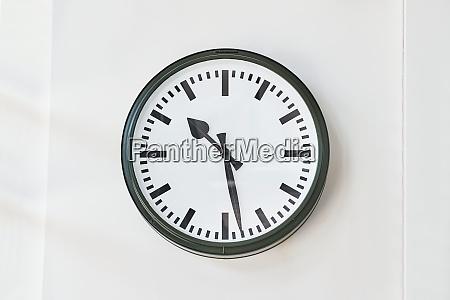 clock at a station