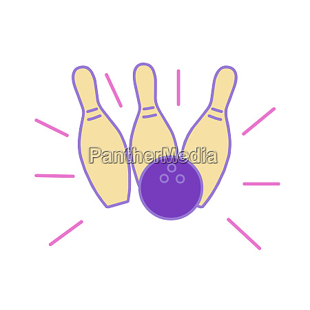 bowling ball hitting strike monoline